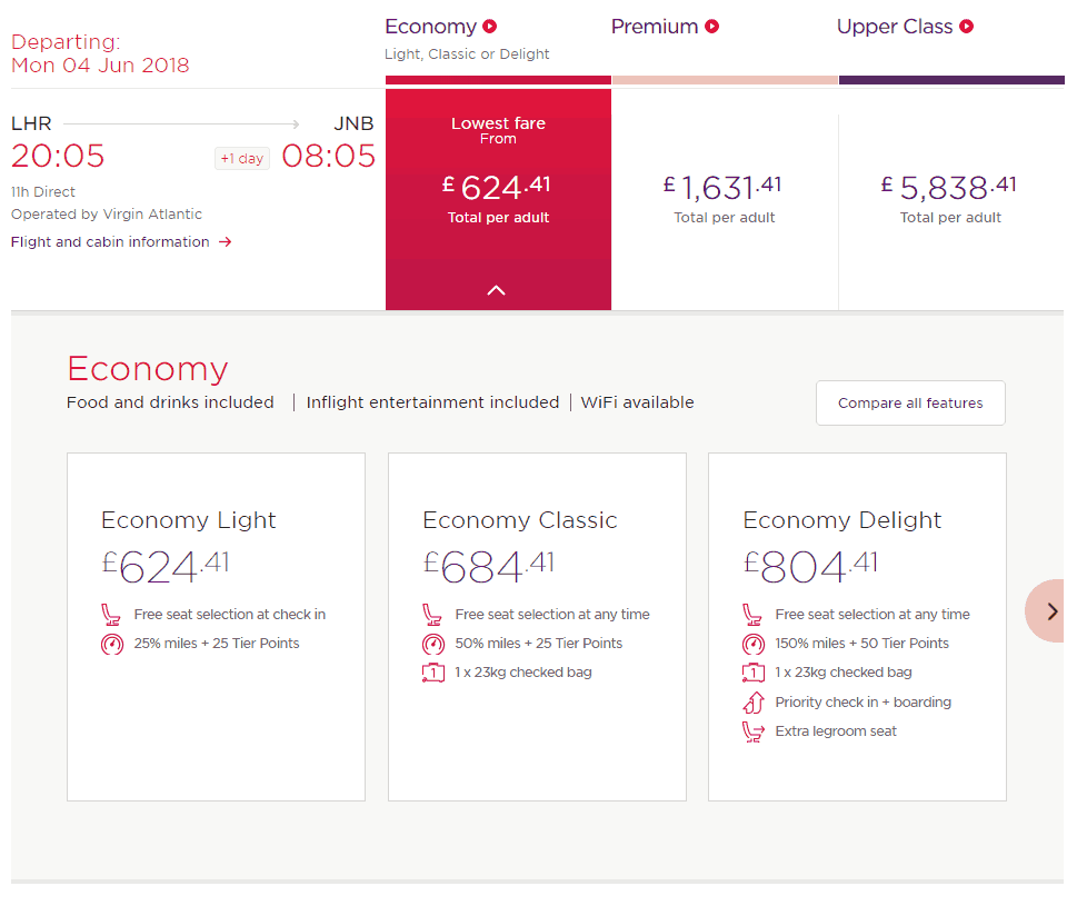 Virgin Airlines Reviews