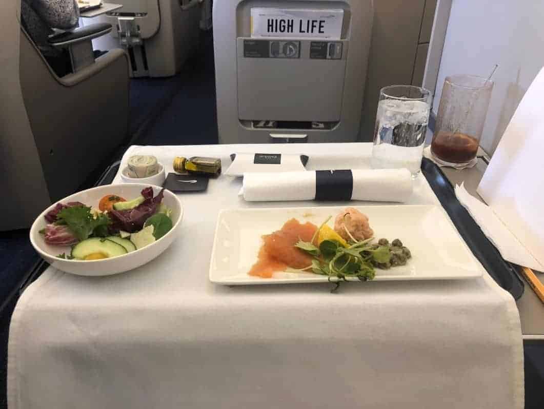 British Airways Business Class Food