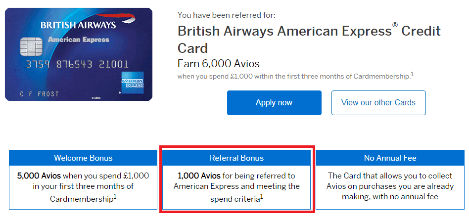 british airways amex