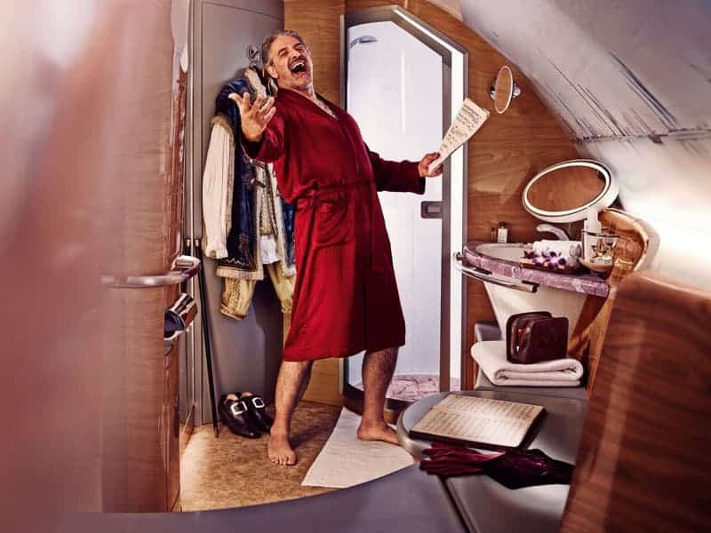 Emirates Airlines First Class Shower