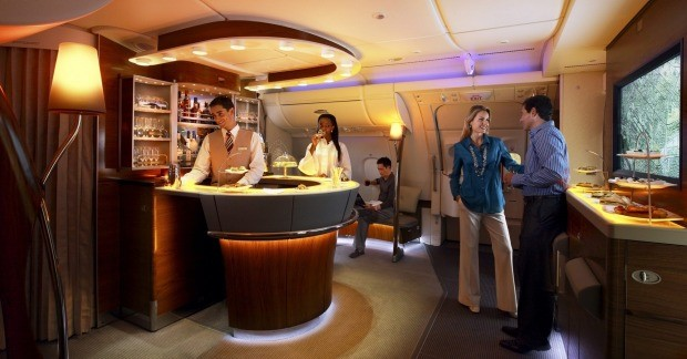Emirates Business Class Bar