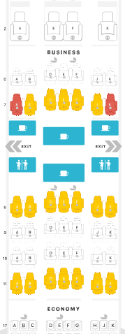 Emirates Business Class Seating Plan