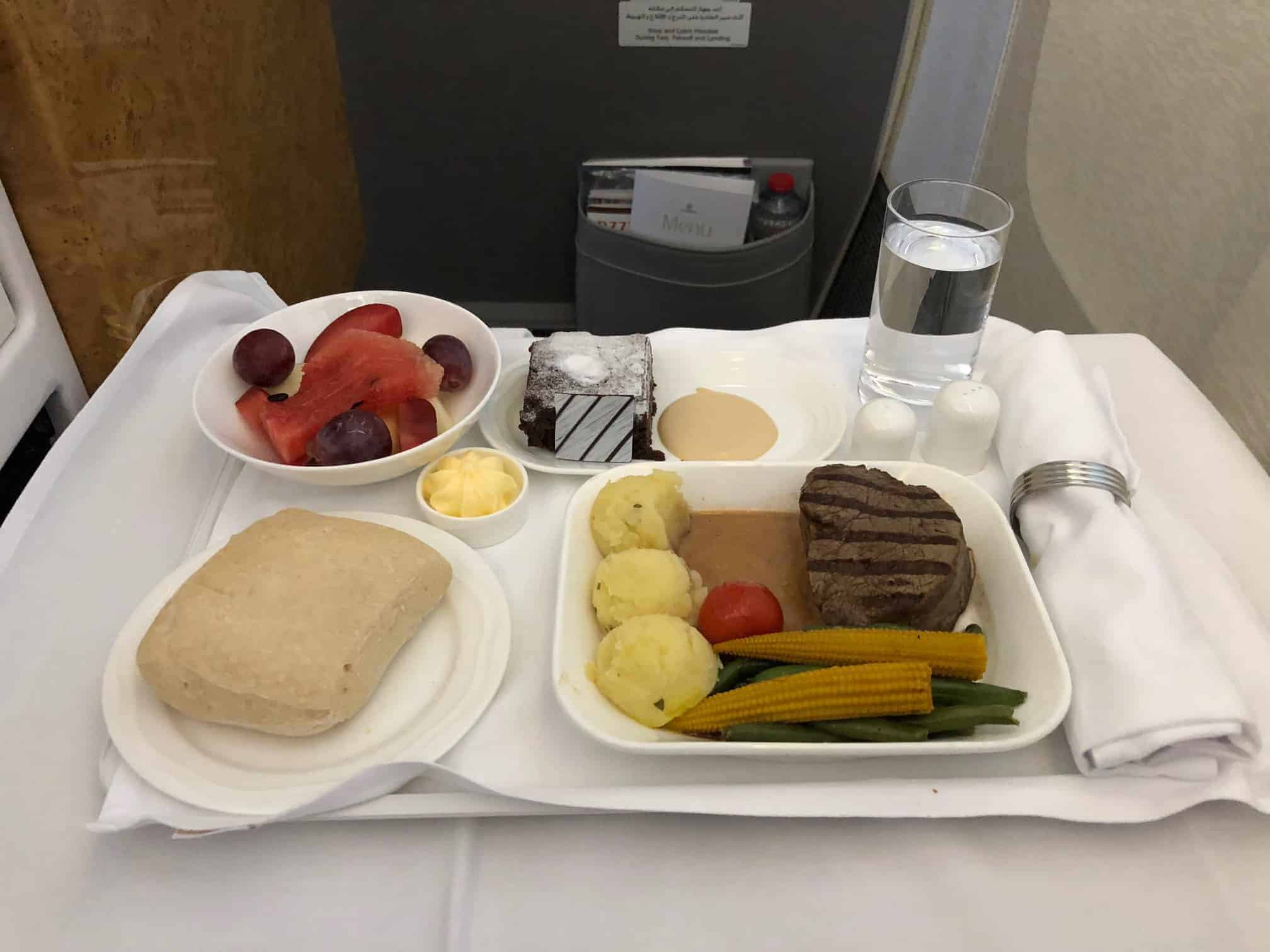 Emirates Business Class Food Review