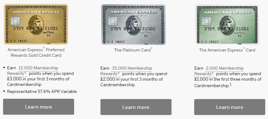 Amex Cards UK