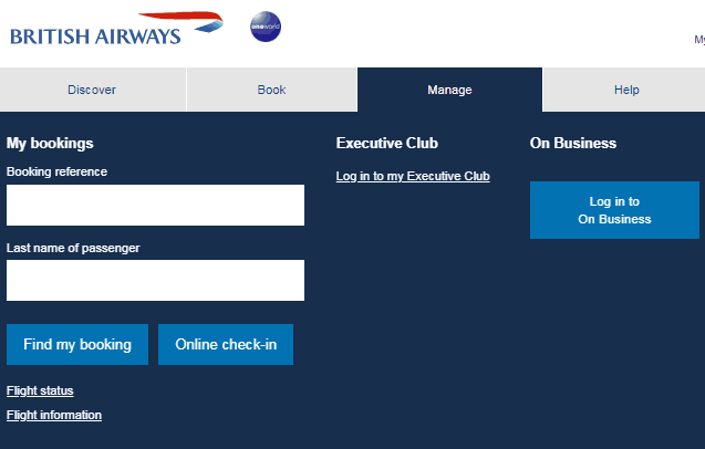 Upgrade with Avios British Airways