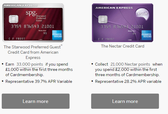 Best American Express Card UK