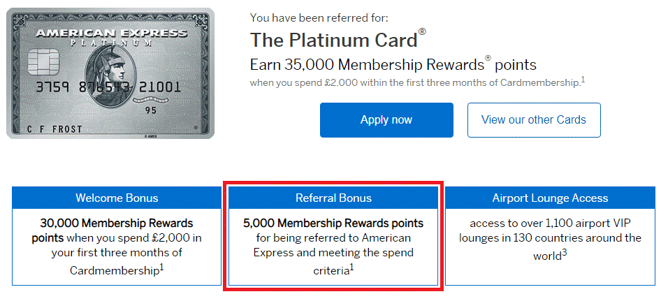 Amex Points redemption