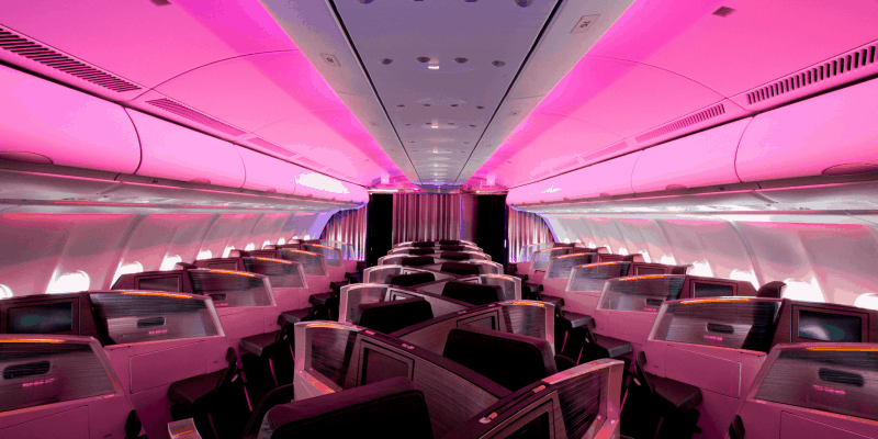 virgin atlantic flight interior