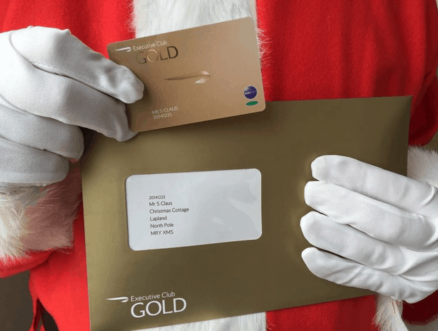 British Airways Executive Club Gold Card