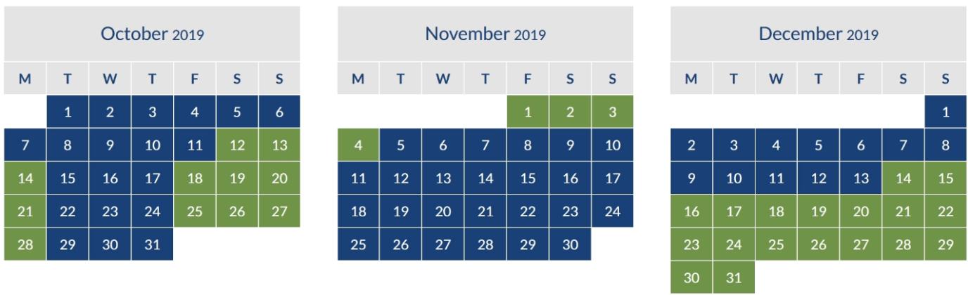 BA Peak Off Peak Calendar