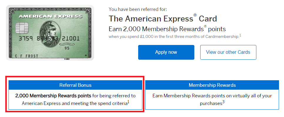 Amex Green Card UK