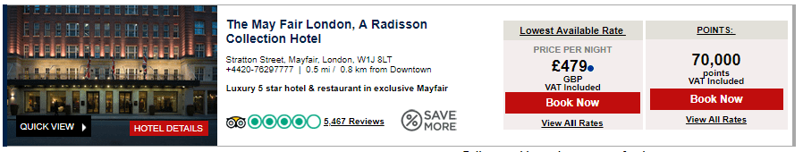 Radisson Rewards Card