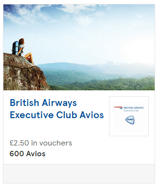 Collect Avios British Airways